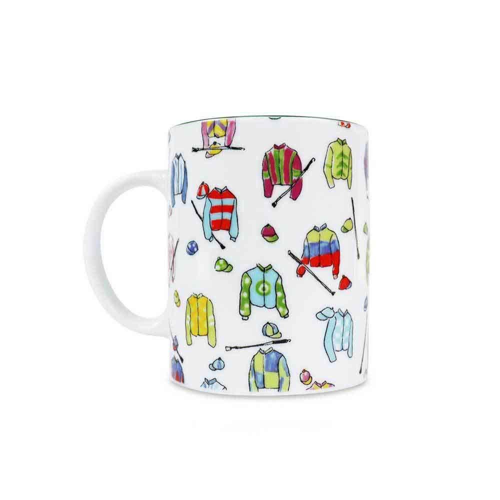 Ceramic Jockey Silks Mug, Set of 2