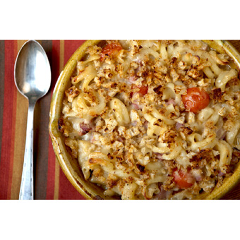 Creole Mac and Cheese with Ham