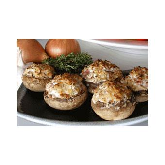 Ginger Wasabi Stuffed Mushrooms