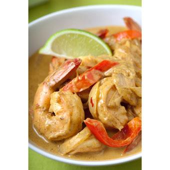 Mild Indian Coconut Curry Shrimp