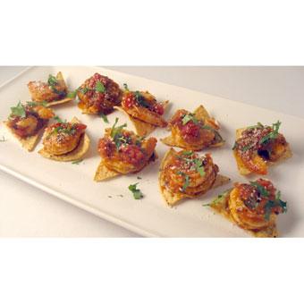 Chipotle Shrimp Tostaditos
