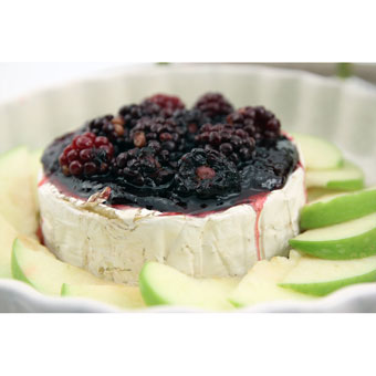 Baked Brie with Blackberry Spice + Sage Jam