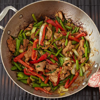 Sriracha Teriyaki Stir Fried Pork