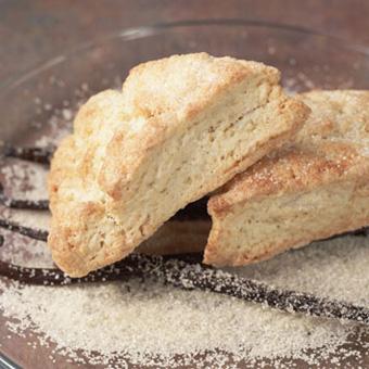 Vanilla Sugar Crusted Scones