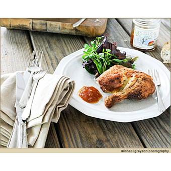 Chutney and Mustard Glazed Chicken