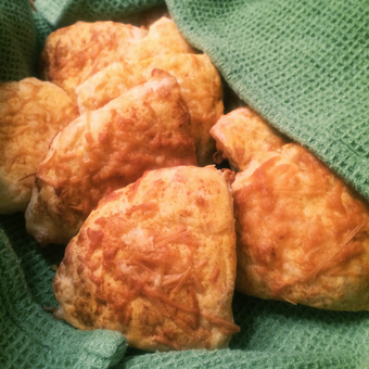 Make Ahead Savory Aged Sharp Cheddar Cheese Scones