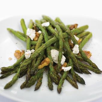 Asparagus Salad With Walnut Oil Vinaigrette & Feta