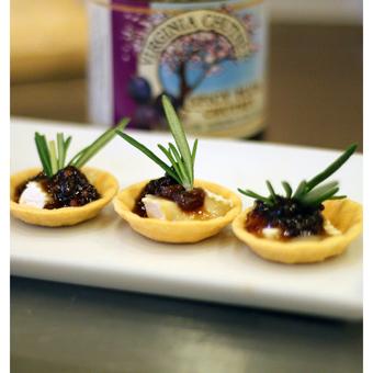 Savory Brie Bites with Spicy Plum Chutney