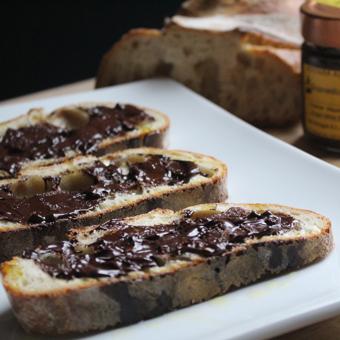 Hazelnut Spread & Olive Oil Bruschetta