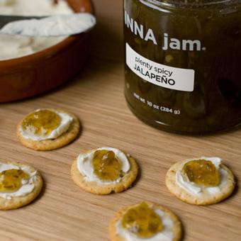 JALAPENO jam + cream cheese on crackers