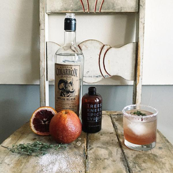 Blood Orange Margarita with Spicy Maple Syrup