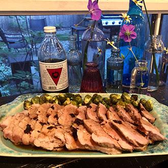 Pork Tenderloin with Apple Cider Au Jus