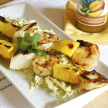 Grilled Shrimp & Mango Kabobs