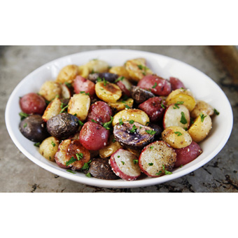 Roasted Baby Potatoes with Truffle Salt