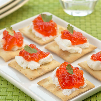 Goat Cheese & Red Pepper Jelly