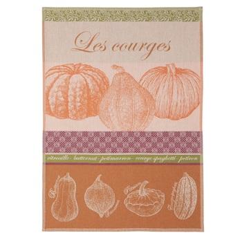 <i>Les Courges</i> French Cotton Jacquard Tea Towel