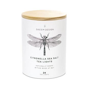 Citronella Sea Salt Tea Lights