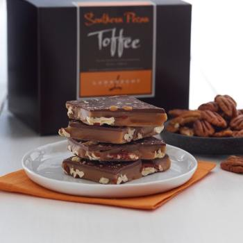 Handmade Southern Pecan Toffee - Southern Pecan Toffee, 1 lb Gift Box