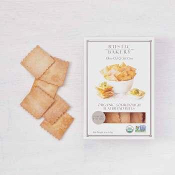 Olive Oil & Sel Gris Organic Sourdough Flatbread Bites