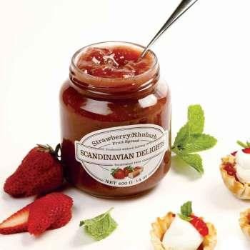 Strawberry Rhubarb Fruit Spread