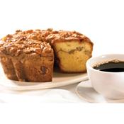 Cinnamon Walnut Coffee Cake with Coffee
