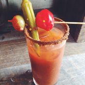 Bloody Mary in Glass