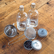 Homemade Gin Kit Components