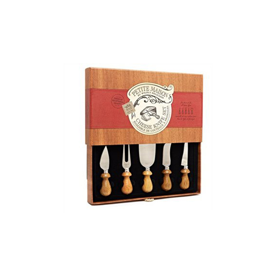 Five Piece Rosewood Cheese Knife Set