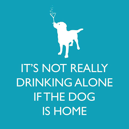 If the Dog is Home Beverage Napkin