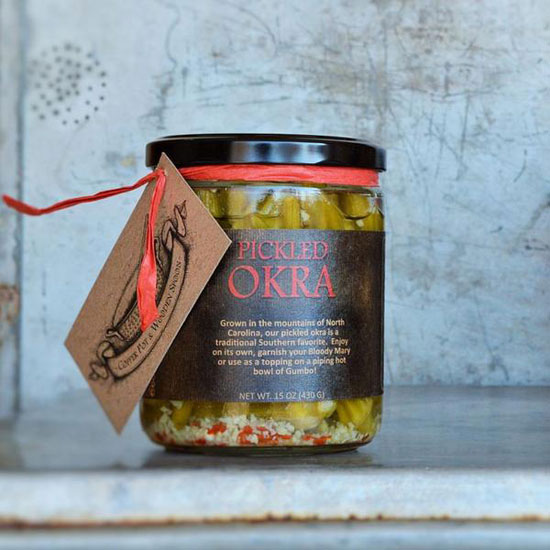 Southern Style Pickled Okra