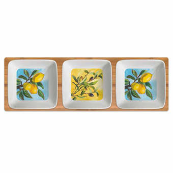 <i>Lemon & Olive Musée</i> Dipping Dish Set