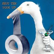 Shut the Duck Up Beverage Napkins