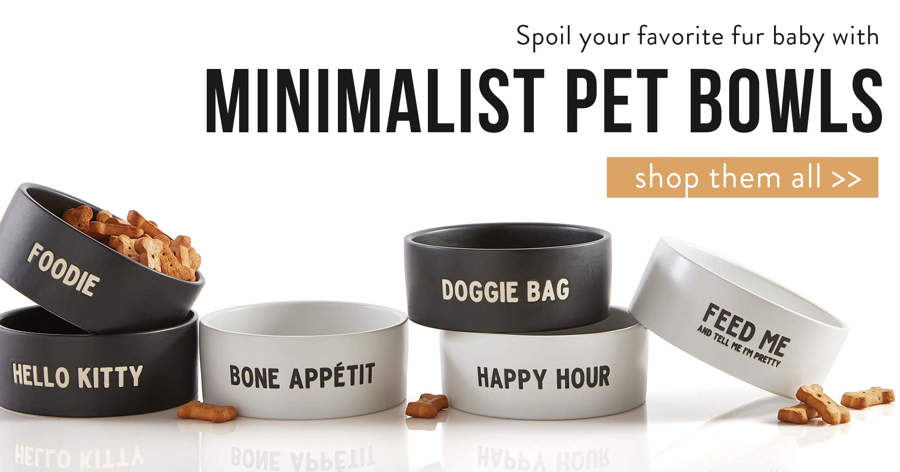 Spoil your favorite fur baby with Minimalist Pet Bowls. Shop them all.