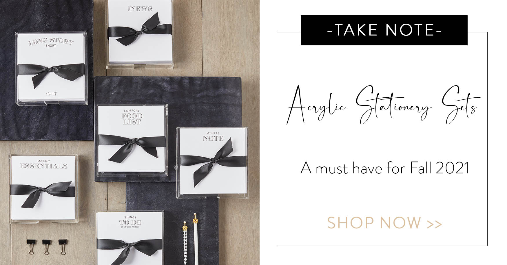 Take Note! Acrylic Stationery Sets - A must have for Fall 2021. Shop now