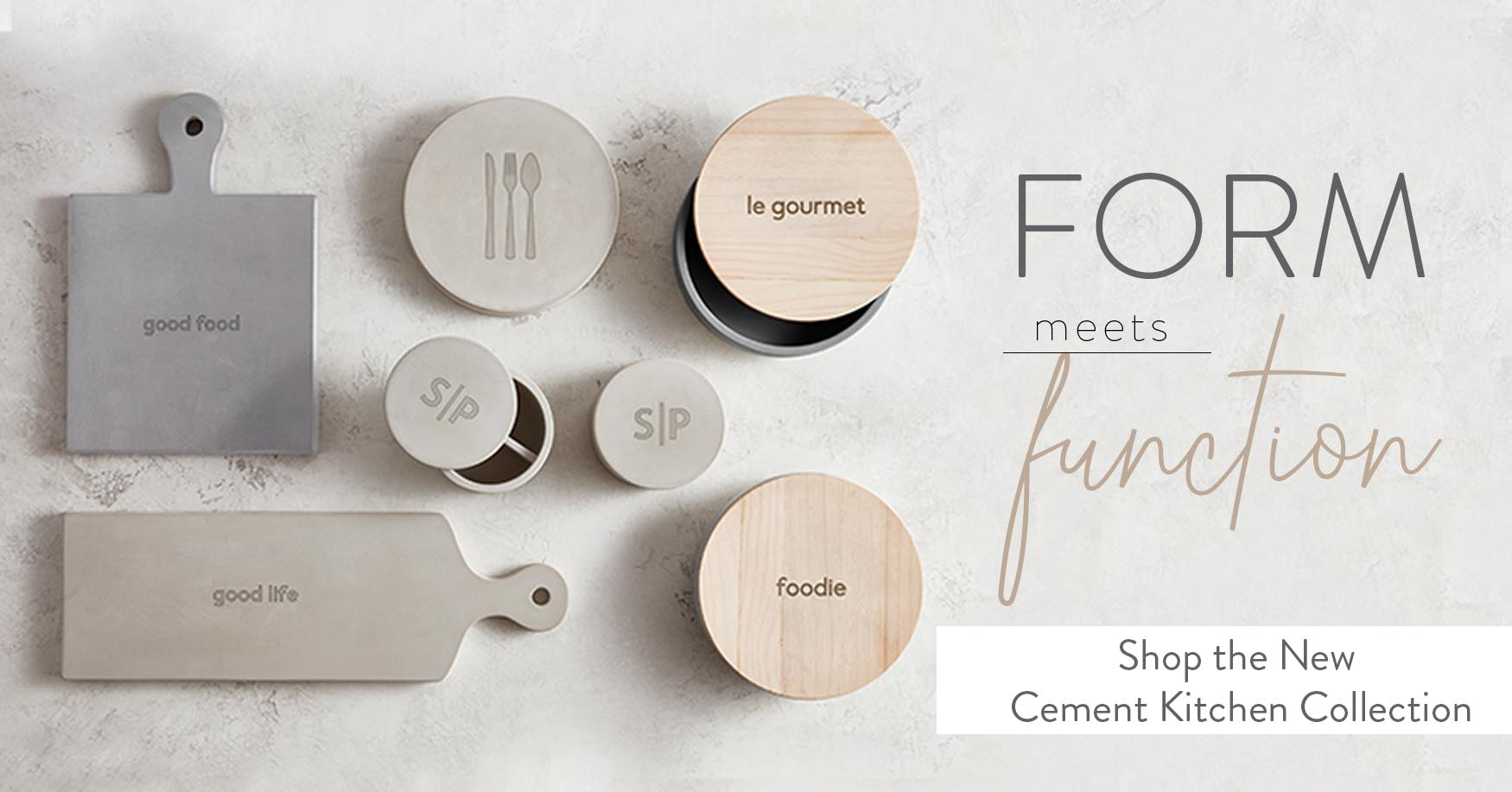 Form Meets Function. Shop the New Cement Kitchen Collection