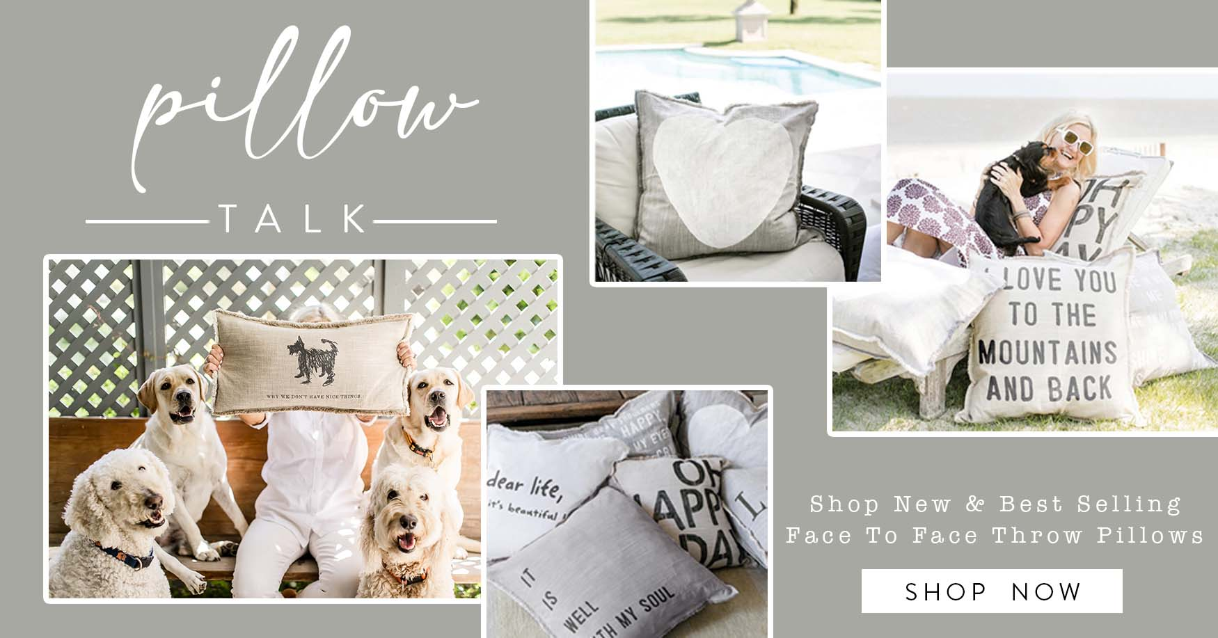 Pillow talk, shop new and best selling face to face throw pillows - shop now!