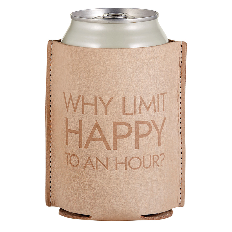 Leather Coozie - Happy Hour