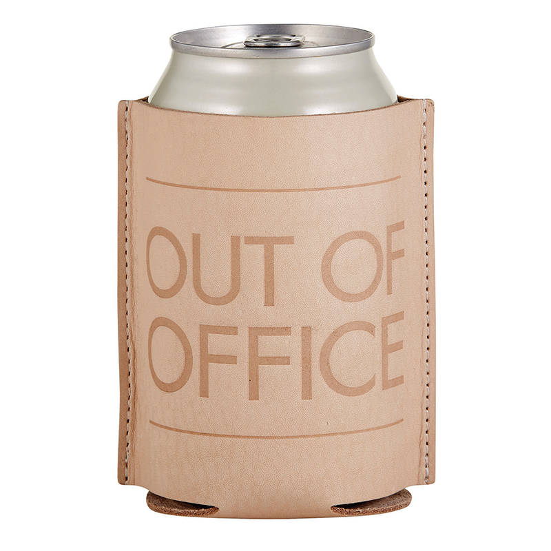 Leather Coozie - Out of Office