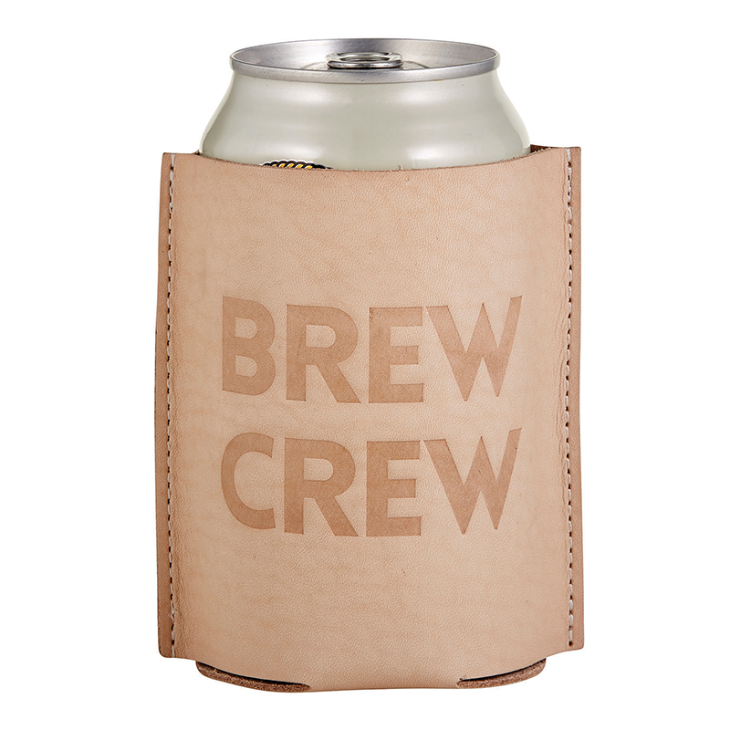 Leather Coozie - Brew Crew