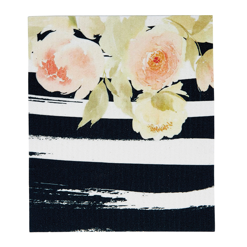 Organic Dishcloth - Pink Floral