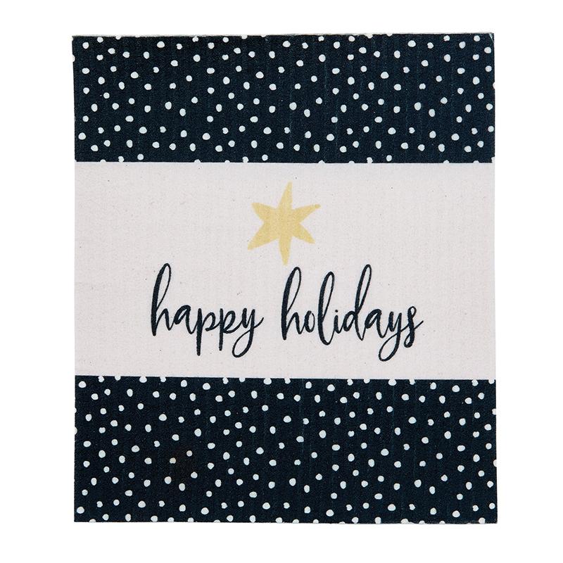 Organic Dishcloth - Happy Holidays
