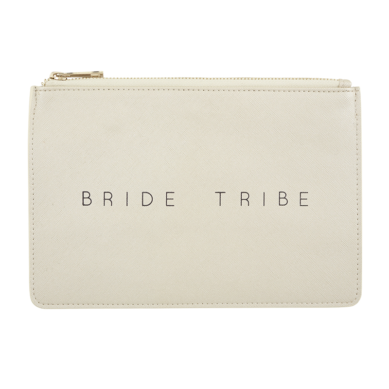 Fashion Pouch - Bride Tribe - Metallic Silver