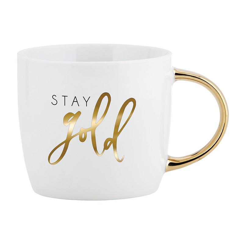 Gold Handle Mug - Stay Gold