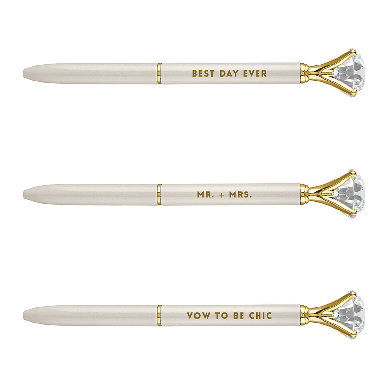 Gem Pens - Ivory Wedding