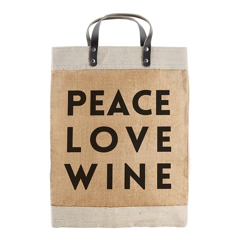 Farmer's Market Tote -  Peace Love Wine