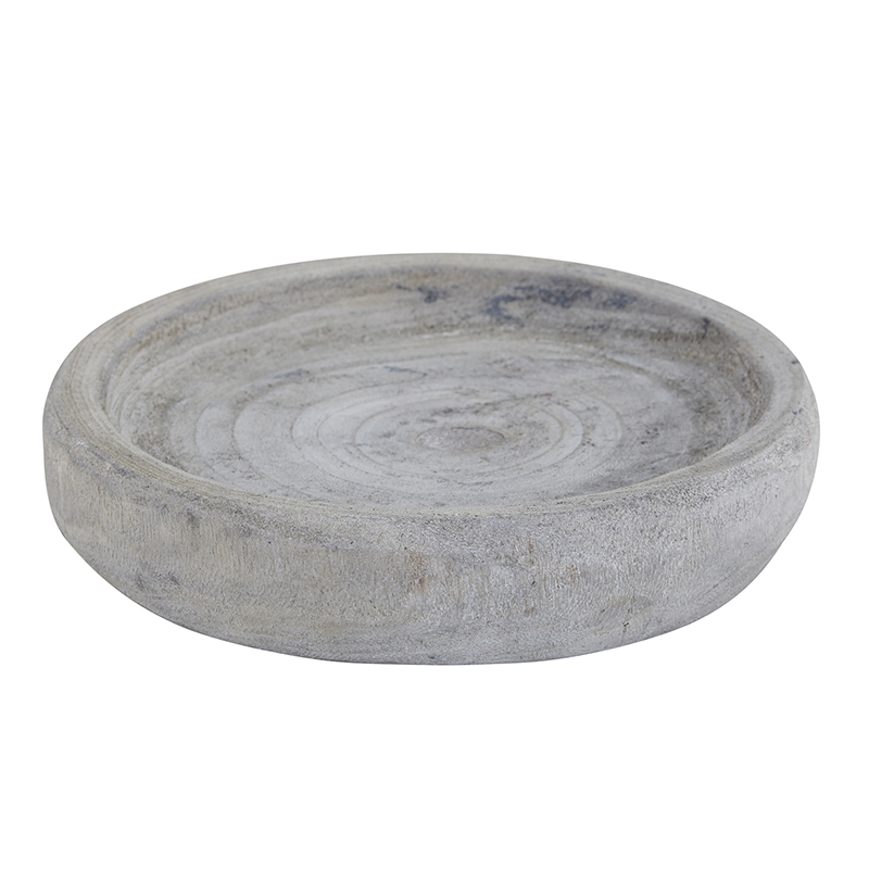 Paulownia Bowl - Small - Grey