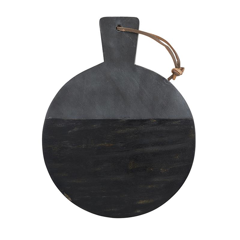 Marble + Mango Wood Board - Round
