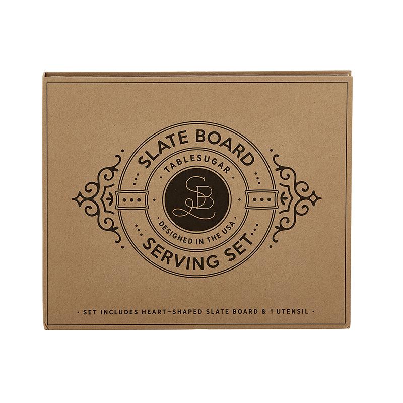 Cardboard Book Set -Slate Board Serving Set