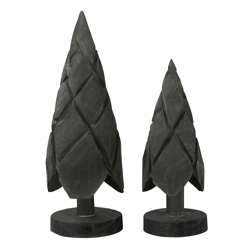 Paulownia Trees - Black - Set of 2