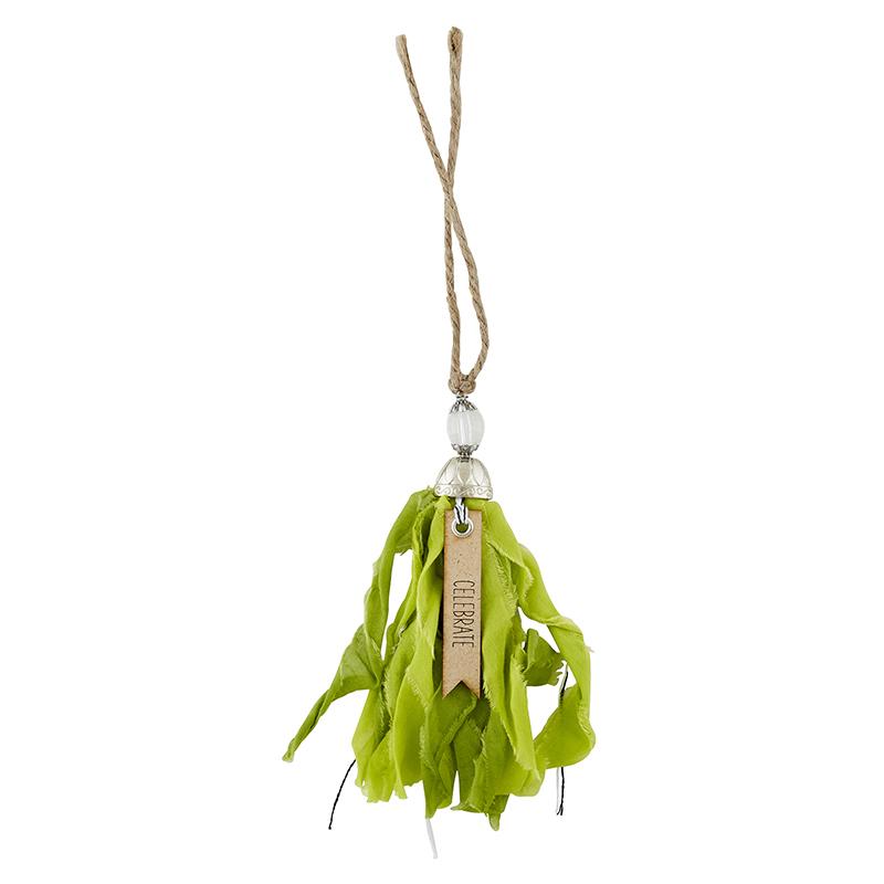 Tassel Tag - Celebrate - Chartreuse